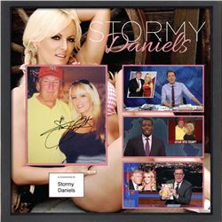 Stormy Daniels Signed Photo Collage