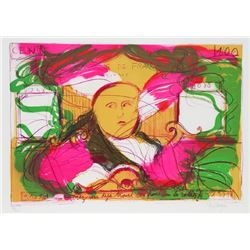 Jean Messagier, 100 Francs in the Radishes, Lithograph