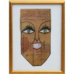 Saul Steinberg, untitled (Face), Lithograph