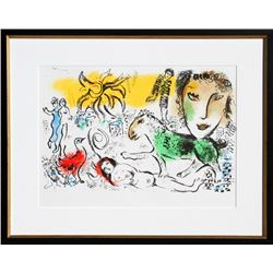 Marc Chagall, Homecoming from XXe Siecle. Chagall Monumental, Lithograph