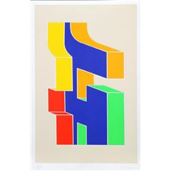 Chryssa, Times Square Fragment #10, Serigraph