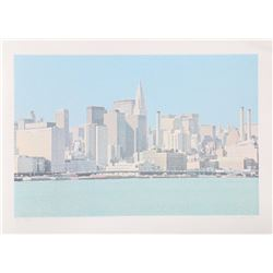 H.N. Han, NY Skyline from the City Scapes Portfolio, Silkscreen