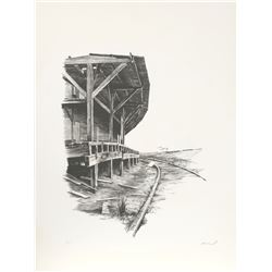 Harry McCormick, Old Station, Lithograph