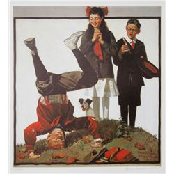 Norman Rockwell, Cousin Reginald in Cut Out, Vintage Poster