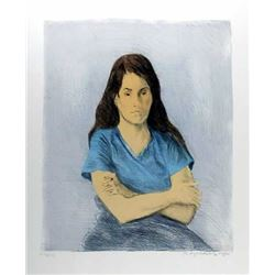 Raphael Soyer, Seated Girl, Lithograph