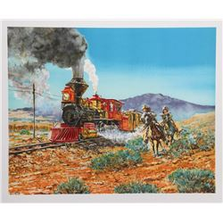 Noel Daggett, Race to the Station, Lithograph