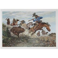 Jack Hines, The Perils of Jedediah Smith, Offset Lithograph