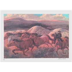 Rockwell Smith, The Wild Horse Runners, Lithograph