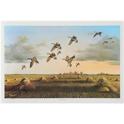 Bob Elgas, The Harvesters, Offset Lithograph