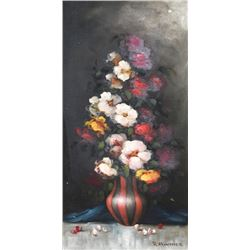 R. Hunter, Floral 4, Oil Painting