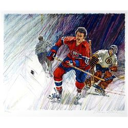 William Biddle, NHL Hockey, Lithograph