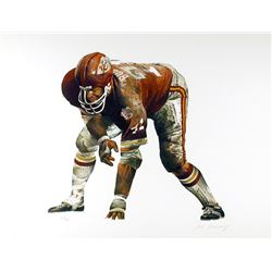 Merv Corning, On the Line (Kansas City Chiefs), Lithograph