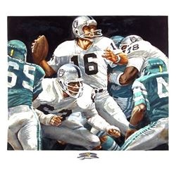 Merv Corning, Superbowl XV (Jim Plunkett), Lithograph