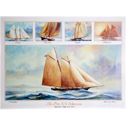 John Gable, Five US Schooners 1851-1876, Offset Lithograph