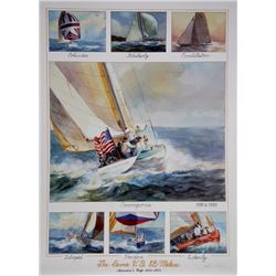John Gable, Seven US 12-Meters - America's Cup 1958-1983, Offset Lithograph