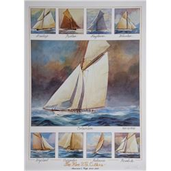 John Gable, Nine US Cutters, Offset Lithograph