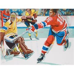 Jim Jonson, Hockey III, Lithograph