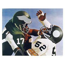 Robert Lambaise, Violence in Pro Football, Lithograph