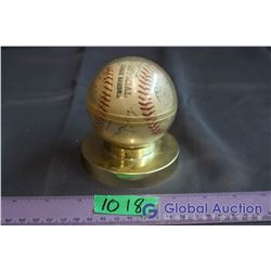 Autographed Baseball (From Baseball Hall of Fame Banquet 87')