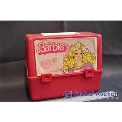 Vintage Barbie Plastic Lunch Box w/Thermos