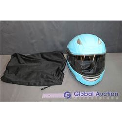 Blue HJC Ladies Size Extra Small Snowmobile Helmet with Carrying Bag