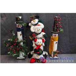 Lot of Snowmen (2 Handcrafted)