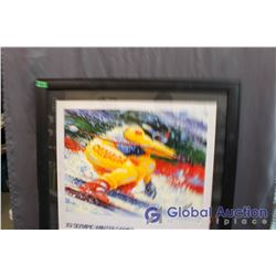 "Signed And Framed XV Olympic Winter Games Limited Edition Print, 34""x31"""