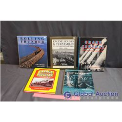 Lot Of Hardcover Train Books (5)