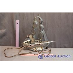 Decorative Metal Boat Lamp (Working)