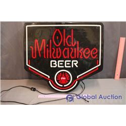 Old Milwaukee Beer Light Up Sign (Cord Broken)