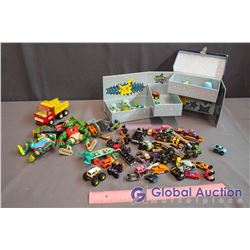 Pokeman Collector's Box w/Contents, Toy Cars, Tonka Truck and Ninja Turtles