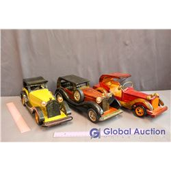 (3) Wooden Collector Cars