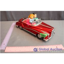 Vintage Tin Battery Operated Light Up Car