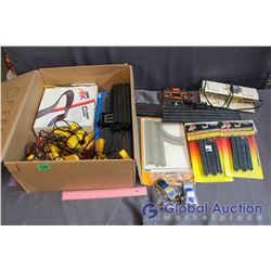 Slot Car/Motorcycle Track w/Accessories