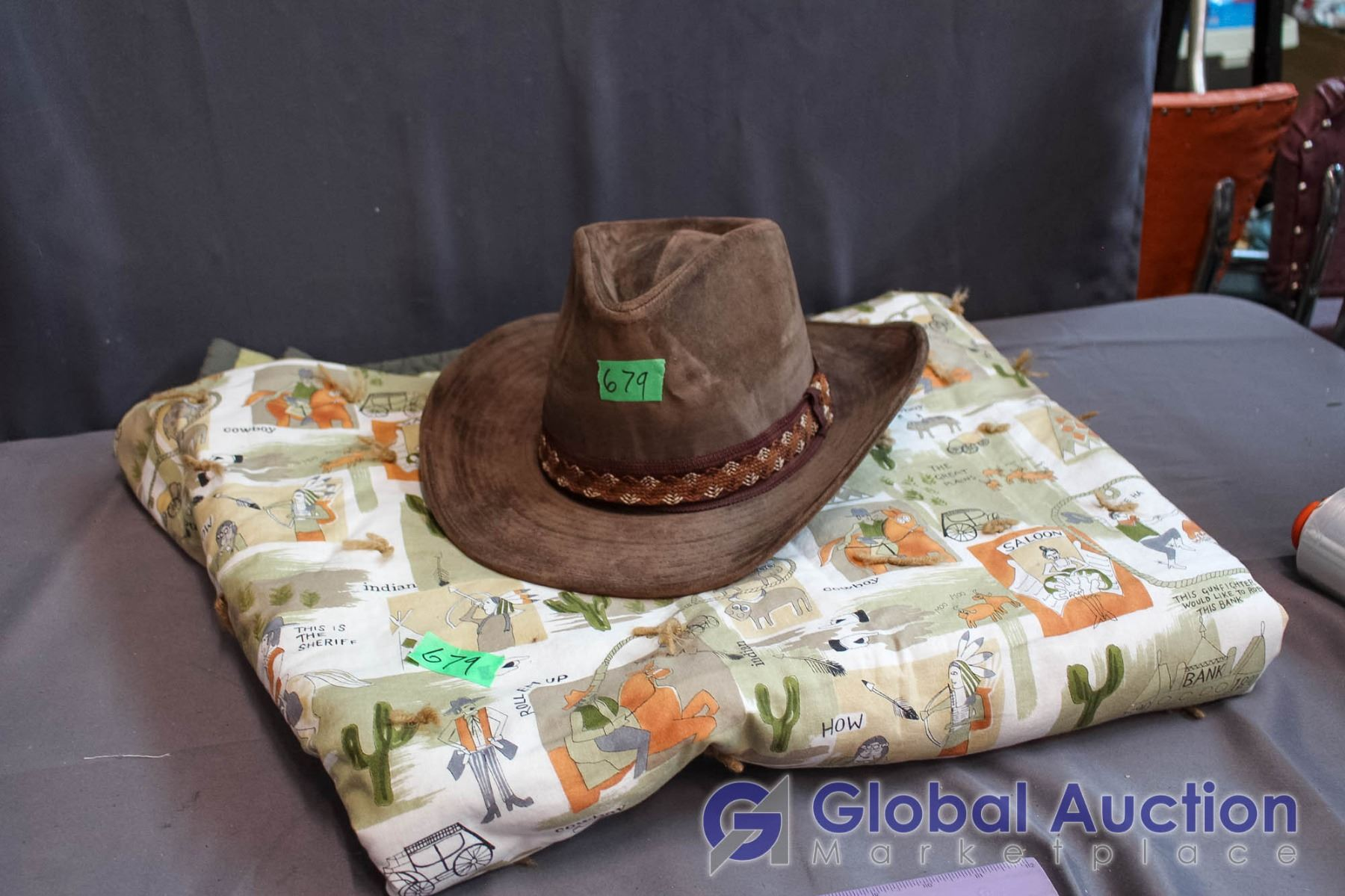 Image 1   Western Design Blanket   Boot Hill Hat ... 7e9e45dc2d3