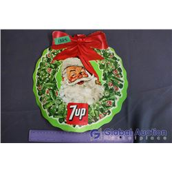 7-Up DS Cardboard Santa Clause Sign