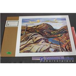 Northern Hills' Numbered Print By A.Y. Jackson And Group Of Seven Publishing W/ COA