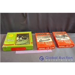 (2) Vintage Royal Jig Saw Puzzles, The London De Luxe Series