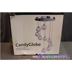 NIB Candy Globe LED 9-Pendant Light Fixture