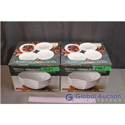 NIB Porcelain Bowls - 2 Boxes of 4 Bowls, 8 Bowls Total