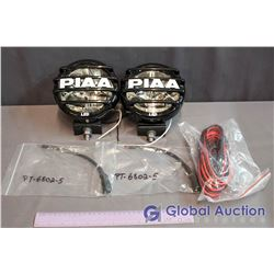 "Unused PIAA 6"" LP560 White LED Driving Light Kit - Wiring/Switch Included"