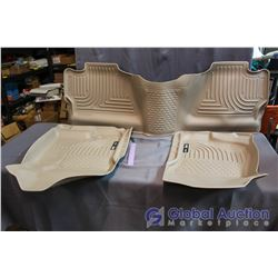 Husky Weatherbeater Floor Mats, New - Tan, Crew Cab, Fits 2007-2013 Chev/GMC 1500, 2007-2014 Chev/GM