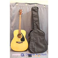 Yamaha F310 Acoustic Full Size Guitar W/ Soft Case, Strap, And Picks