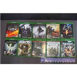 Lot Of Xbox One Games (10) (Titanfall, Resident Evil 5, Shadow Of Mordor, Resident Evil 6, Dead Risi
