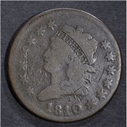 1810/9 LARGE CENT, G/VG STRONG OVERDATE