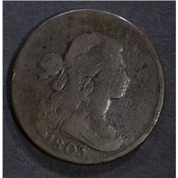 1803 DRAPED BUST LARGE CENT, G/VG