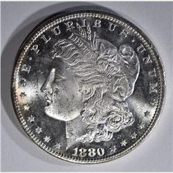 1880-S MORGAN DOLLAR, GEM BU