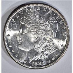 1881-S MORGAN DOLLAR, GEM BU