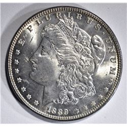 1889 MORGAN DOLLAR, GEM BU