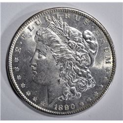 1890 MORGAN DOLLAR, GEM BU